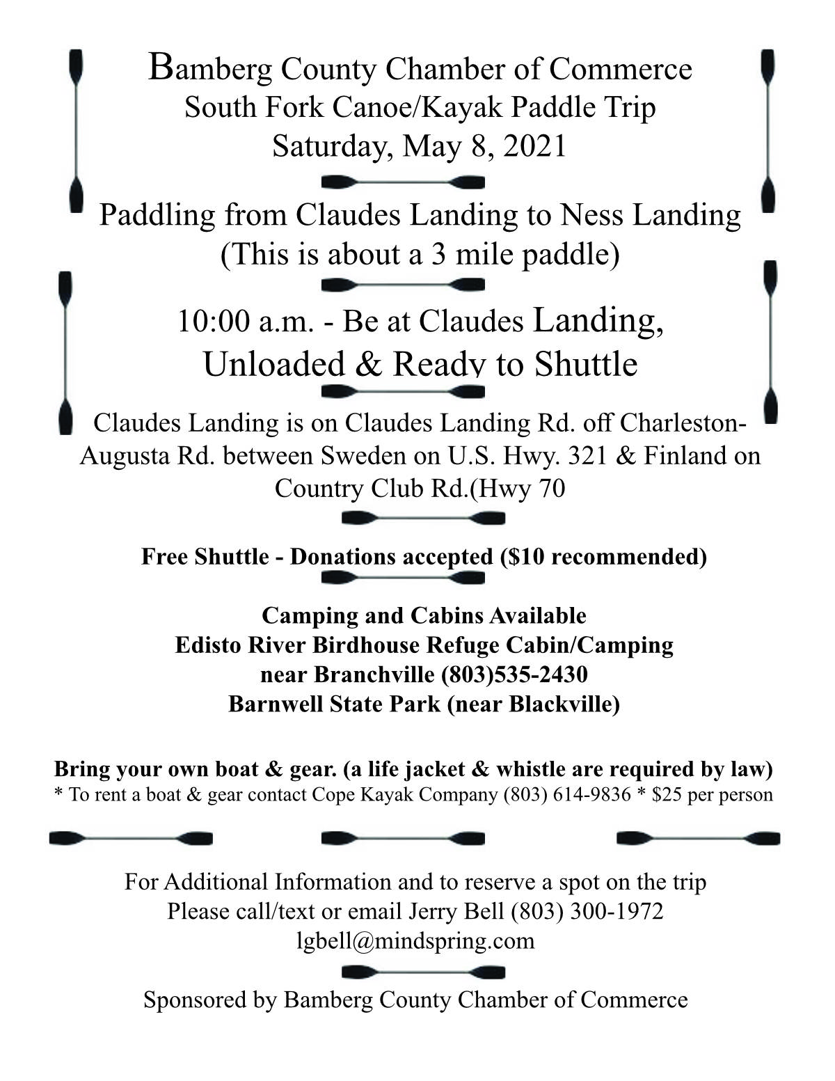 Paddle Trip May 8, 2021 2021 Edisto Fork River Trips Bamberg County SC